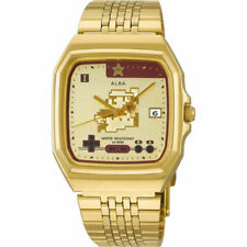 SEIKO ALBA Super Mario Bros Limited Model Watch ACCK711 Gold from Japan New