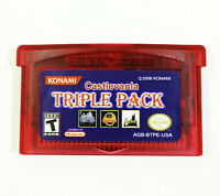 Castlevania Triple Pack GBA Gameboy Advance Aria of Sorrow Circle of Moon Double