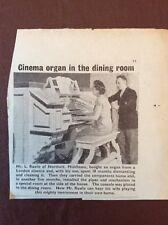 J1a Ephemera 1960 Picture L Rawle Northolt Organ Dining Room