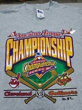 1997 American League Championship Series Orioles vs Indians T-Shirt Size XL NEW