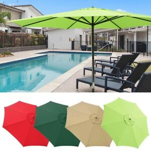 4m Outdoor Patio Metal Umbrella UV30+ Sun Shade Market Garden Beach Pool Parasol