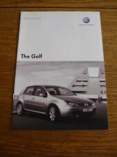 VW  GOLF PRICE LIST BROCHURE JUNE 2006