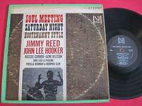 SOUL BLUES LP - JIMMY REED / JOHN LEE HOOKER - SOUL MEETING - VEE-JAY VJS 1074