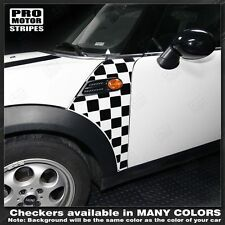 MINI Cooper Clubman Checkered Side Panel Stripes 2008 2009 2010 2011 2012 2013
