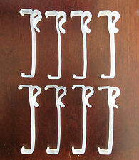 Qty 8  of 3 Inch Valance Clips For Horizontal Faux & Wood Blinds Parts