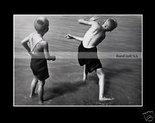 1934-rpt HUNGARY Swimsuit LAJOS LENGYEL Beach Boys Shorts CHILD Seaside  MATTED