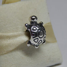 New Authentic Charm Pandora 790158 Turtle Sterling Silver Box Included