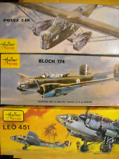 Nib 3 Heller early French bombers Potez 540 Bloch 174 LeO 451 1:72 scale