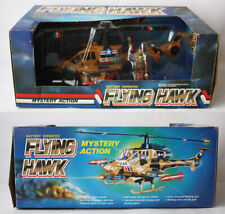 RARE VINTAGE 80'S FLYING HAWK B/O HELICOPTER G I JOE FIGURE KO BOTOY NEW MIB !