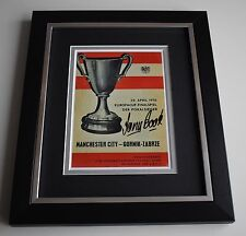 Tony Book SIGNED 10X8 FRAMED Photo Display Manchester City 1970 ECWC AFTAL COA