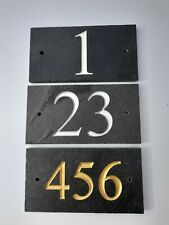 More details for deep engraved slate house sign, house number plaque 180mm x 100mm