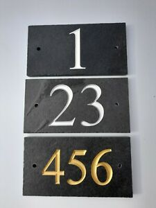 Deep engraved slate house sign, house number plaque 180mm x 100mm