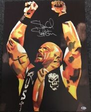 Autographed Stone Cold Steve Austin 18 x 24 Print, Hands Up Poster  WWE WWF