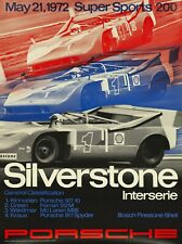ORIGINAL 1972 PORSCHE POSTER 917 SILVERSTONE SUPER SPORTS 200 101x76cm Strenger