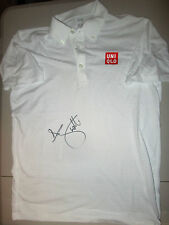 ADAM SCOTT HAND SIGNED WHITE UNI QLO SMALL SHIRT UNFRAMED + PHOTO PROOF C.O.A