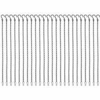 Foraineam 24 Pack 19.7 Inches Hanging Chains Garden Plant Hangers for Bird Feede