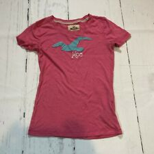Hollister Women Top Tee T-shirt Size XS Short Sleeve Pink Crew Neck - E4