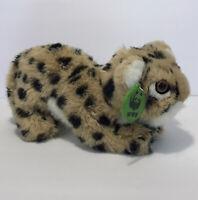 "Vintage 1989 Applause Leopard Stuffed Plush Animal 12"" World Wildlife Fund WWF"