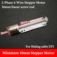 2-phase 4-wire Micro 10MM Stepper Stepping Motor 36MM long linear Screw Rod DIY