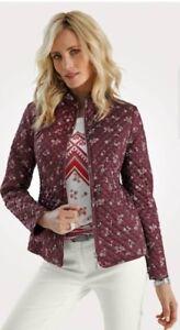 Artigiano Mona Bordeaux Blazer Jacket- Size 14 R - BNWT - RRP £159