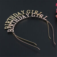 BIRTHDAY GIRL Headband Hairband Tiara Headdress Women Headwear Hair Accessories