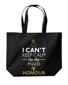 I Can't Keep Calm I'm The Maid Of Honour Wedding Tote Shopping Gym Beach Bag