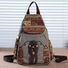 Women Backpack Vintage Canvas Handmade Backpacks For Girl Mini Rucksack National