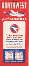 Northwest Orient Airlines timetable 1954/OCT
