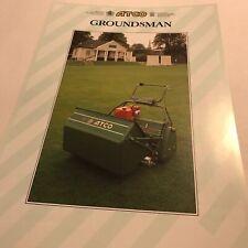 ATCO Groundsman Cylinder Mower Original 1980s Sales Brochure