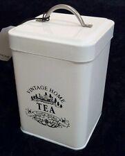 """New Vintage Home Country Tea Canister Jar Kitchen Storage Tea Holder Lid 5.5"""""""