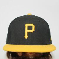 Pittsburgh Pirates New Era 59FIFTY Fitted 7 3/8 MLB Flat Brim Baseball Hat Cap