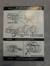 New 1971 - 1974 Charger/Coronet Jack Instruction Decal, Part #3686769