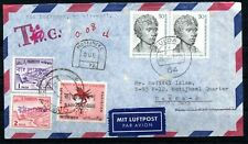 """EXT RARE GERMANY COVER 1972 BANGLADESH """"OVERPRINT"""" POSTAGE DUE STAMPS ON COVER"""