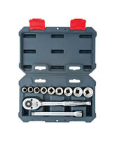 Crescent  3/8 in. drive  SAE  6 and 12 Point Socket Wrench Set  12 pc.