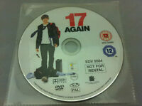 17 Again (DVD R2) DISC ONLY in plastic sleeve