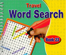 Spiral Bound Word Search Travel Books Kids Adults 170 Puzzles Book 23 - 3090