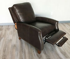 New Barcalounger Melrose Recliner Chair Genuine Edmond Chocolate All Leather