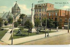 c1910 Nixon Building and Public Square, Butler, Pennsylvania Postcard