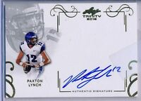 PAXTON LYNCH - 2016 Leaf Trinity Inscription AUTO - Memphis - Broncos RC