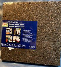 Art Minds Dark Cork Tiles 4 Pack In New Packaging 12x12