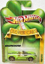 HOT WHEELS 2010 CLOVER CARS FORD GTX-1 GREEN W+