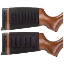 2pc Shotgun & Rifle Butt Stock AMMO HOLDER Bullet Gun Sleeve Shell Hunting Pouch