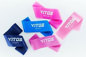 Vitos Fitness Exercise Mini Band Resistance Loop | TPR Material Latex Free