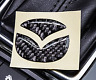 42mm Carbon Fiber Steering Wheel Emblem Filler Decal Sticker For Mazda 2 3 5 6