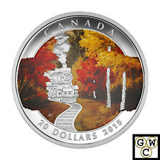 2015 'Autumn Express' Colorized Proof $20 Silver Coin 1oz .9999 *NoTax (17485)