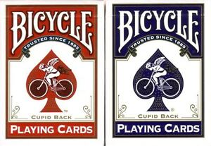2 New Bicycle CUPID GOLD TRIM Playing Cards Red/ Blue