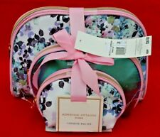 ADRIENNE  VITTADINI:  SET OF 3 DOME SHAPED COSMETIC CASES:   FLORAL / PINK - NEW