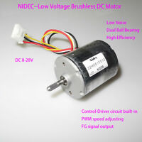 NIDEC 22H051F PWM 12V 24V Brushless DC Motor BLDC High Torque Built-in Driver FY