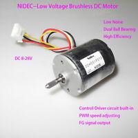 NIDEC High Torque Low Noise 12V 24V Brushless DC Motor PWM Dual Ball Bearing EL