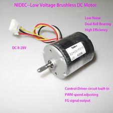 NIDEC 22H051F 12V 24V Brushless DC Motor High Torque Dual Bearing PWM BLDC Motor